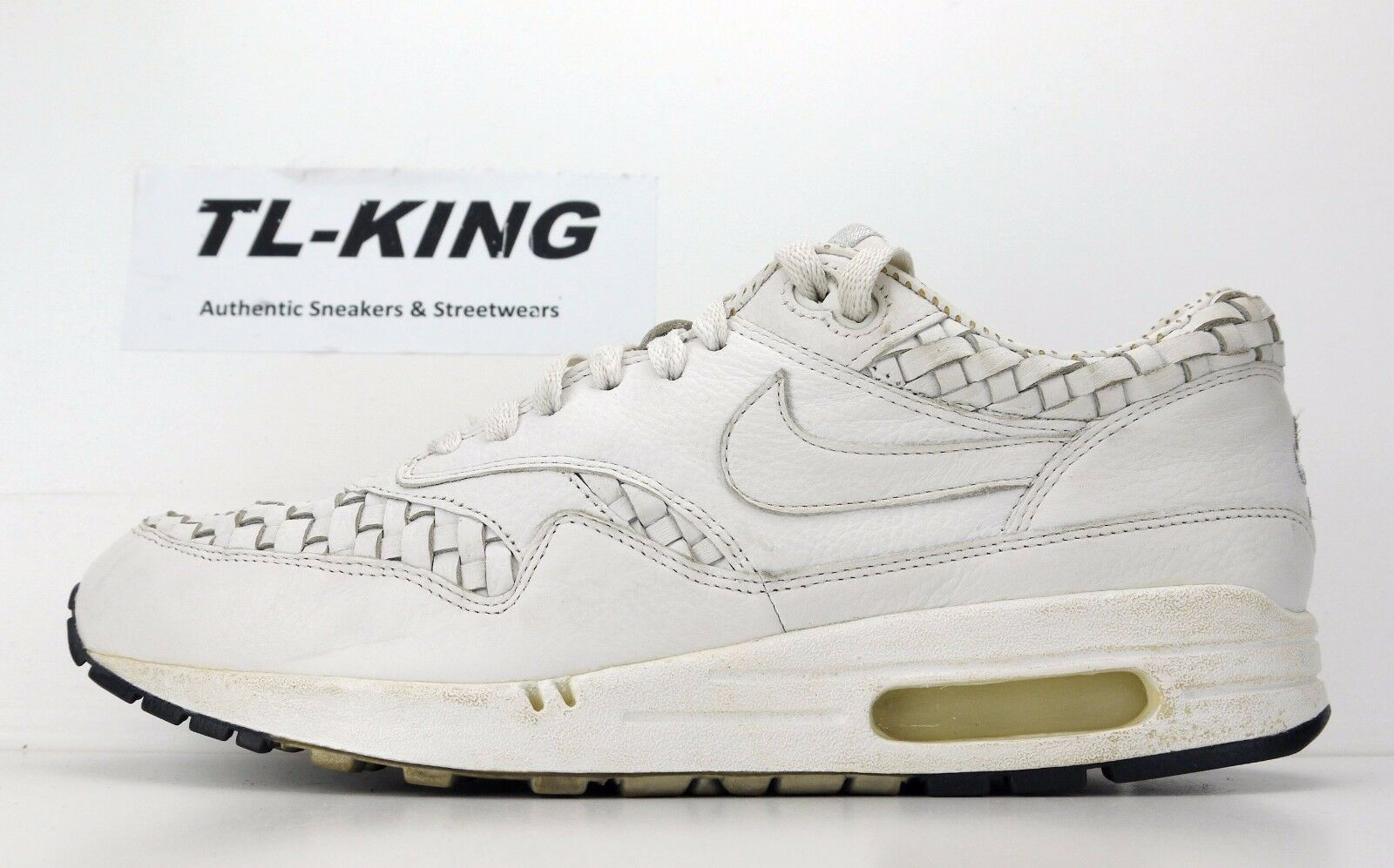 2008 Nike Air Max 1 Premium SP Woven Leather Japan 314252 112 size 9 USED