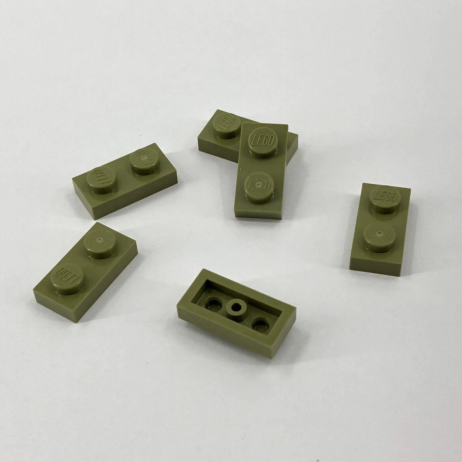 LEGO 20 X PIASTRA bauplatte 1x2 3023 Verde Oliva