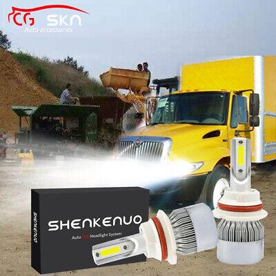 2x 9007 LED Headlight Kit For International Truck 4100 4200 4300 4400 2003-2012