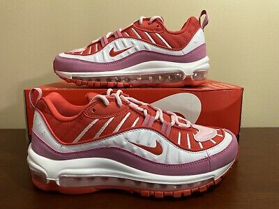 """Women's Nike Air Max 98 """"Valentines Day"""" Track Red Size 7.5 193654138240 