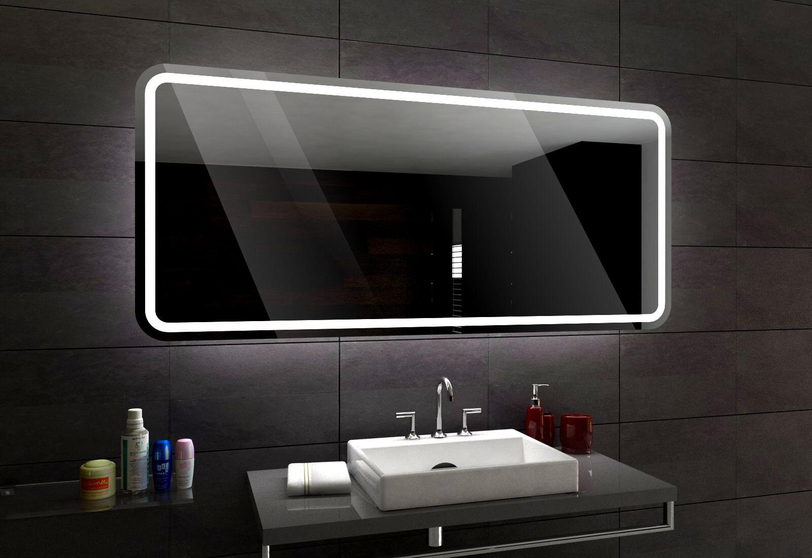 Madrid éclairé del del del Miroir salle de Bain Led personnalisé Größe versions b4318b