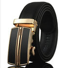 Genuine Leather Men's Automatic Buckle Belts Waist Strap Belt Waistbands