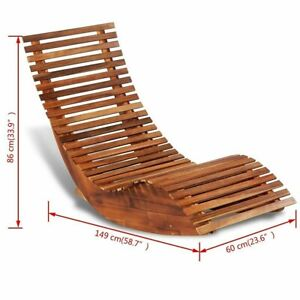 Astounding Details About Rocking Sun Chaise Lounge Outdoor Pool Deck Chair Wooden Sauna Relaxing Bed New Machost Co Dining Chair Design Ideas Machostcouk
