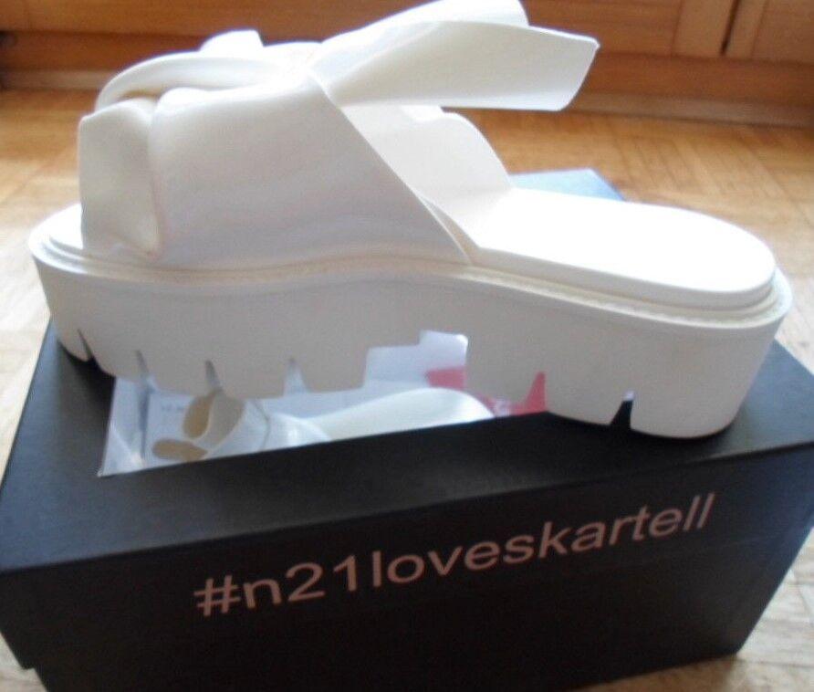 No21 Cartello Sandali da Donna Sandali 064 modello Knot in PVC Bianco Taglia 39
