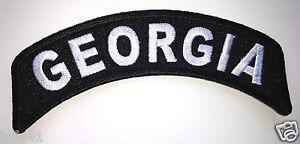 BRAND NEW GEORGIA BIKER GEORGIA STATE FLAG BIKER IRON ON PATCH