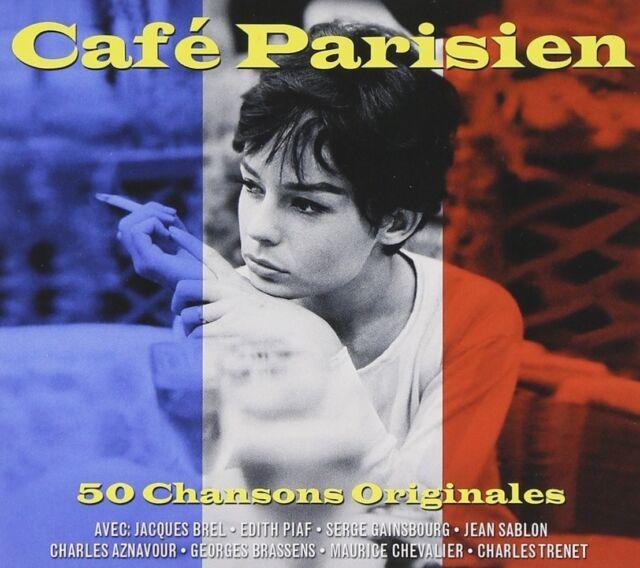 CAFÉ PARISIEN - SERGE GAINSBOURG, JACQUES BREL -  2 CD NEW+