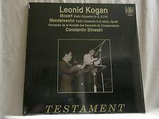 MENDELSSOHN & MOZART Violin Concerto LEONID KOGAN Testament 180 gram SEALED LP