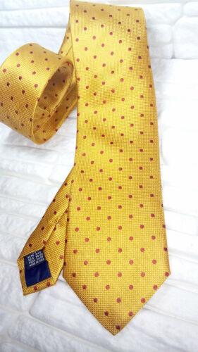 Cravatta pois classica oro scuro 100/% seta Made in Italy business matrimoni