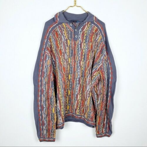 Vintage 90's Coogi Collared Multi-Collor Sweater 3