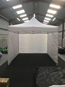 Customisable Commercial Grade Pop Up Gazebo Tent 3x3m