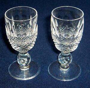 Waterford Ireland crystal COLLEEN cordial pair~made in Ireland~Pristine~NR