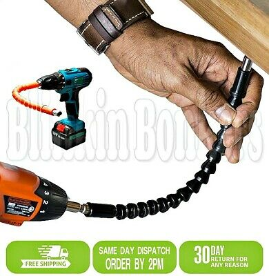"12/"" 300mm Flexible Bendy 1//4/"" Hex Screwdriver Extension Bar Drill Driver Shaft"