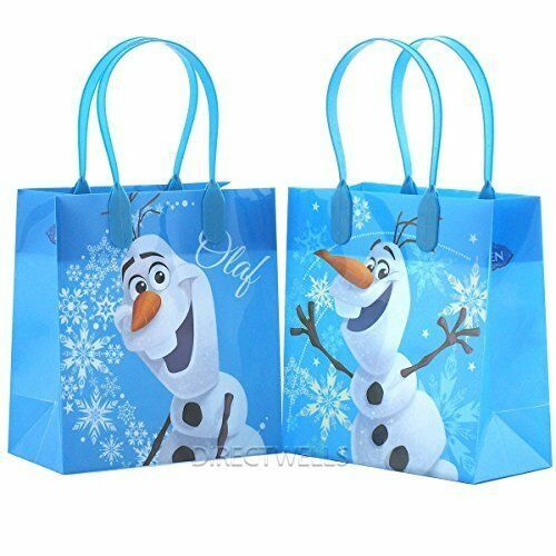 12 Packs Disney Frozen Olaf Blue Premium Quality Party Favor Reusable Bag
