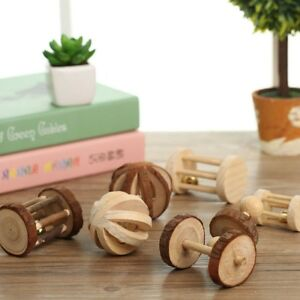 Wooden-Bell-Ball-Small-Animal-Exercise-Toys-Rabbit-Hamster-Rat-Pet-Dog-Toy