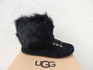 9d2ae69e605 Details about UGG ANTOINE FUR SUEDE SHEEPSKIN CUFF SNEAKER ANKLE BOOTS, US  6/ EUR 37 ~NIB