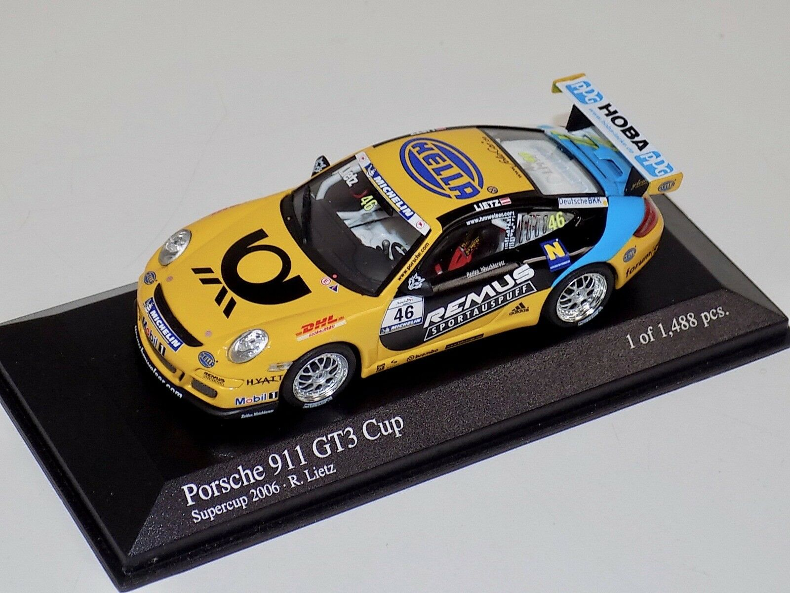 1 43 Minichamps Porsche 911 GT3 Cup 2006 Super Cup Tolimit Motorsport  car