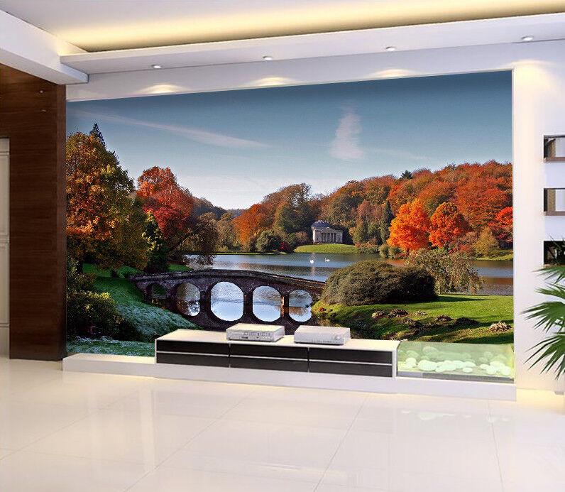 3D Herbst Baum Landschaft 988 Tapete Wandgemälde Tapeten Bild Familie DE Lemon | Vorzügliche Verarbeitung  | Neu  | New Product 2019