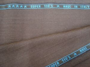 5-yds-DRAGO-Luxury-Wool-Super-130s-Fabric-8-5-oz-Suiting-Bark-brown-182-034-BTP