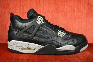 358438f87e7 CLEAN Nike Air Jordan 4 IV Retro LS Oreo Black Tech Size 8.5 314254 ...