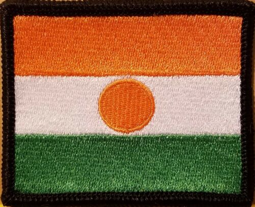 Republic Niger Flag Embroidered Iron-On Patch Military Emblem Black Border