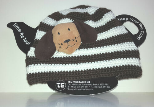20006 Farmyard Friends Tea Cosy /'Dennis the Dog/' Knitted  By T /& G Woodware