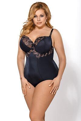 Body Miederbody blau bauchweg Shapewear Damen Figurformer Gorsenia Bügel BH