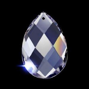 Clear Lead Crystal Diamond Cut Teardrop Chandelier Crystals EBay - Chandelier crystals ebay