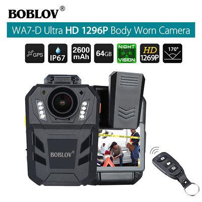 Foto & Camcorder Boblov Wa7-d Hd 1296p 64 Gb Körper Getragen Recorder Fernbedienung Gps 2600mah Schrumpffrei