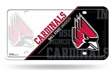 Ball State Cardinals NSD200503 Metal Aluminum License Plate Tag University of
