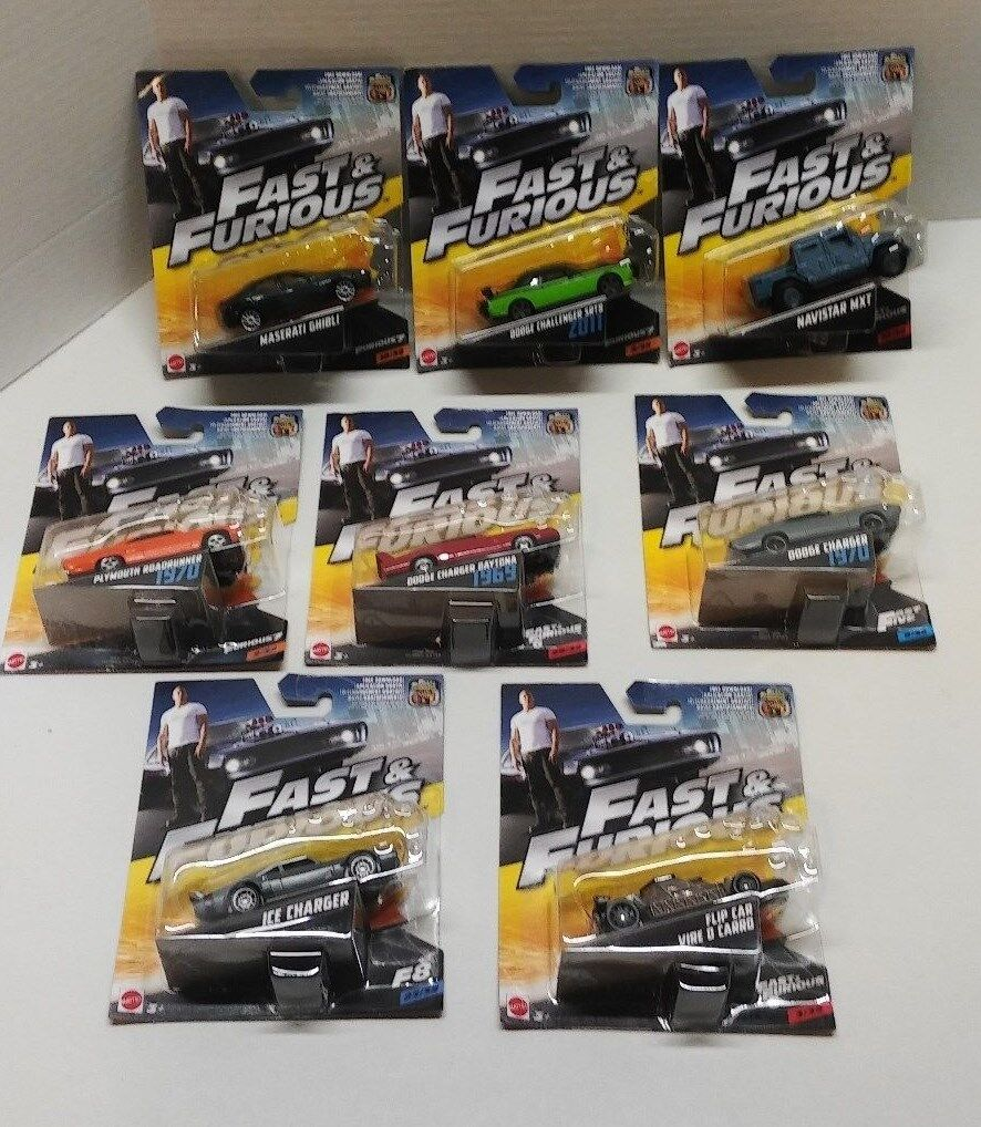 NEW  Mattel 1 55 Die Cast Cars  Fast and Furious Car Lot of 8
