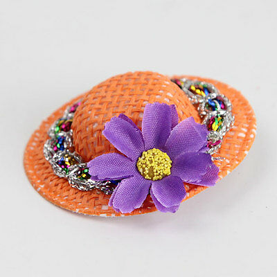 Lady Mini Head Flower Grid Pin Clip Cap Hairpin Women Hair Ornament Gift Hat