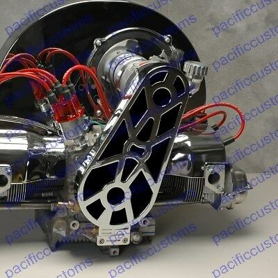 VW Dune Buggy Bug Ghia Thing Bus Trike Baja Engine Pulley Tin EMPI 8960 Chrome Pulley Area Tin