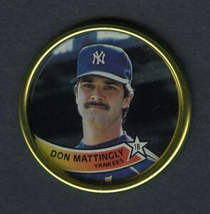 Don Mattingly New York Yankees 1989 Quot Topps Coins Quot Oddball
