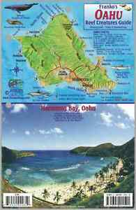 Oahu hawaii map reef creatures guide laminated fish card for Fishing stores oahu