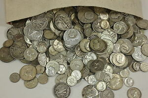 MAKE OFFER 4 Standard Ounces 90/% Silver Junk Coins 1 Silver Dollar INCLUDED