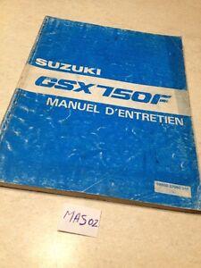 Suzuki-gsxf750-750GSXF-gsxf-K-750-gsx750f-Hg-1988-Werkstatthandbuch-franzoesisch