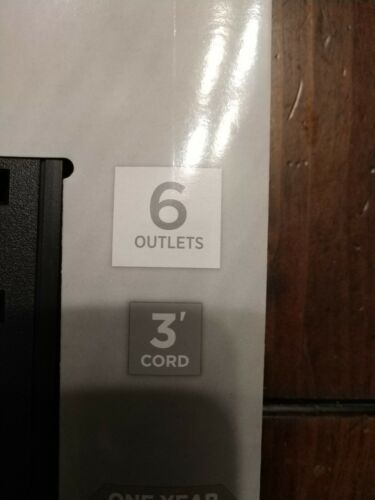 Lot Of 2 CyberPower GS603 Black Power Strip 6-Outlets 3-Foot Cord