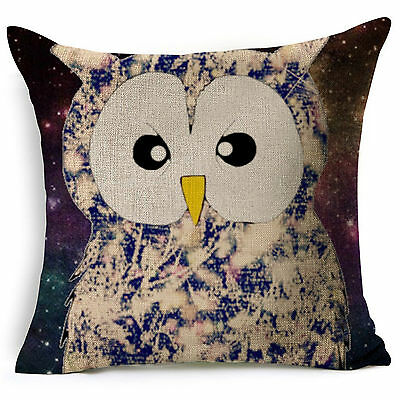 SoftCotton Linen Cushion Cover Bed Sofa Home Decor Letter Deer Skull Pillow Case