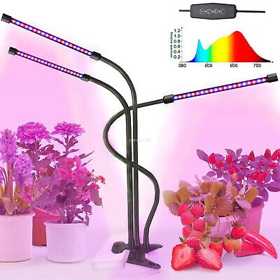 60PC Chips LED Plant Grow Light Lamp With Clip For Indoor Plants Hydroponics 30W