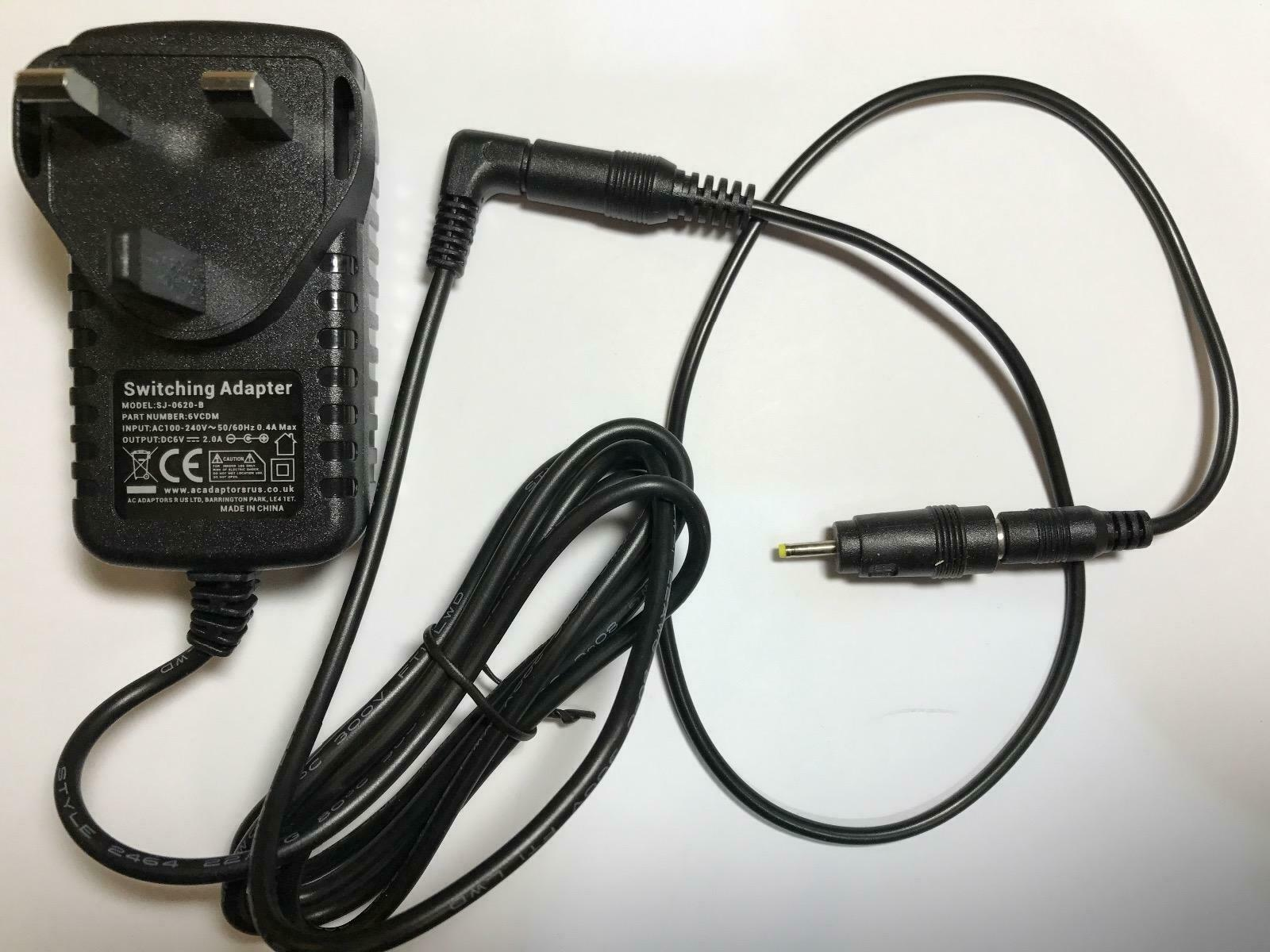 Replacement for 6V 500mA AC-DC Adaptor Charger for Summer Baby Monitor #02631U