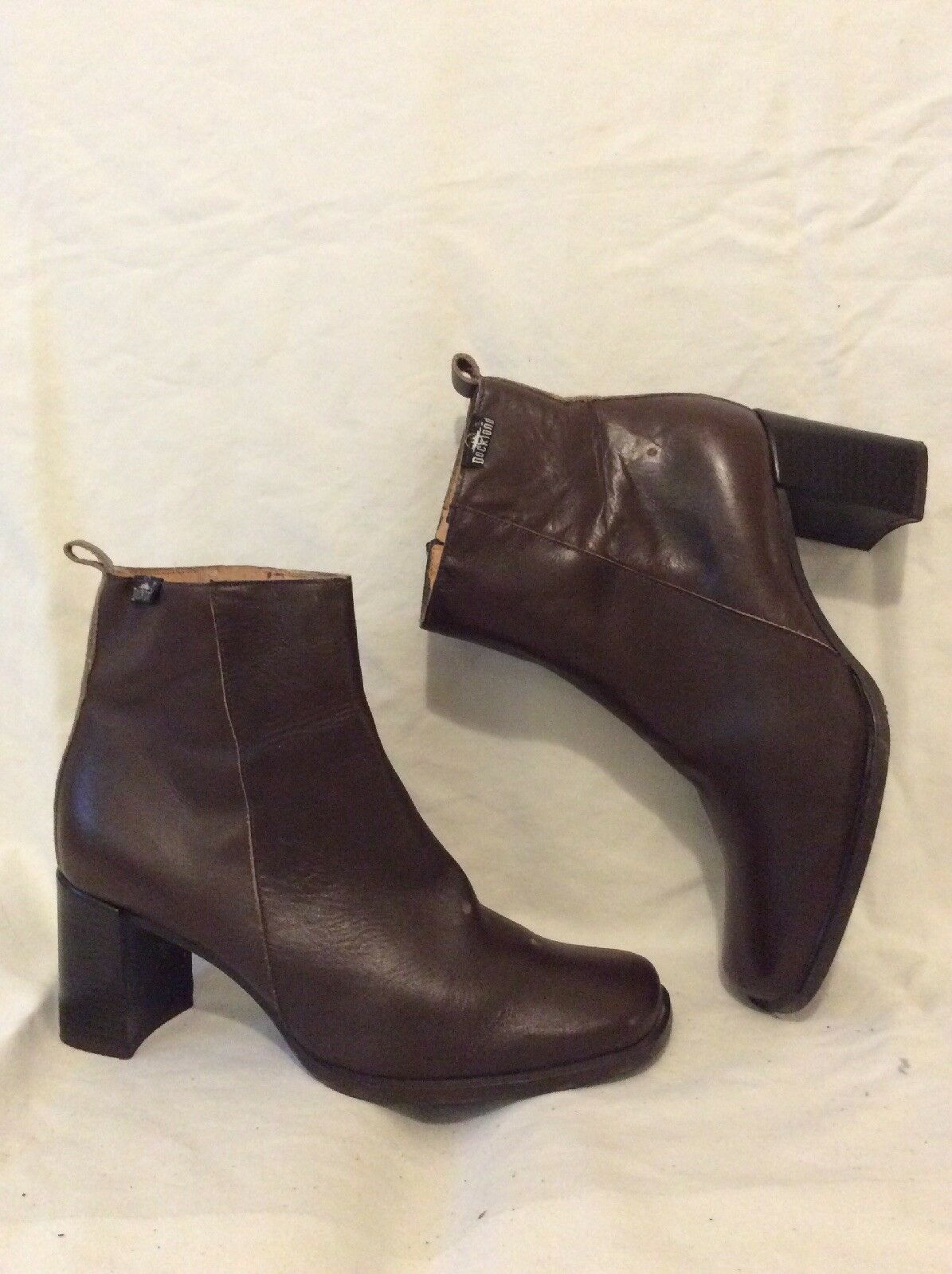 Dockland Brown Ankle Leather Boots Size 39