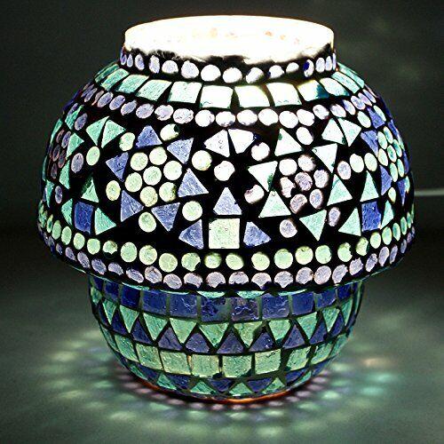 Blau & Weiß Glass Table Lamp Desk Lamps Night Bedroom Light