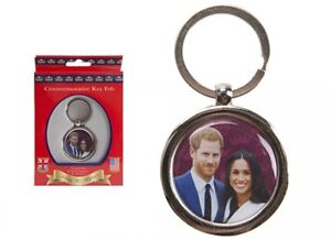 Prince-Harry-Meghan-2018-Royal-Wedding-Oval-Metal-Keyfob-Keyring-Key-Chain-Gift