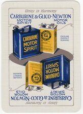 Playing Cards 1 Single Swap Card Old Wide CARBURINE MOTOR SPIRIT Car Petrol Oil