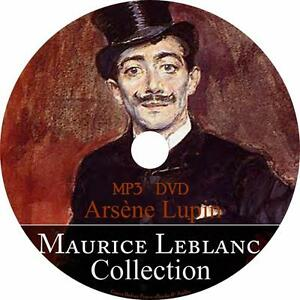 Maurice-LeBlanc-Audiobook-Collection-English-on-1-MP3-DVD-Arsene-Lupin-Free-Ship