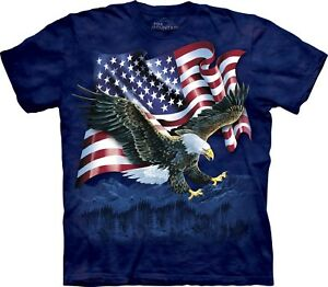 Adult Unisex Talon Eagle Flag T Usa The Mountain Shirt nwAnFXqxP