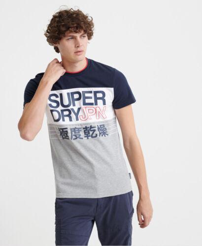 Superdry Herren Crafted T-Shirt Mit Farbblock-Print
