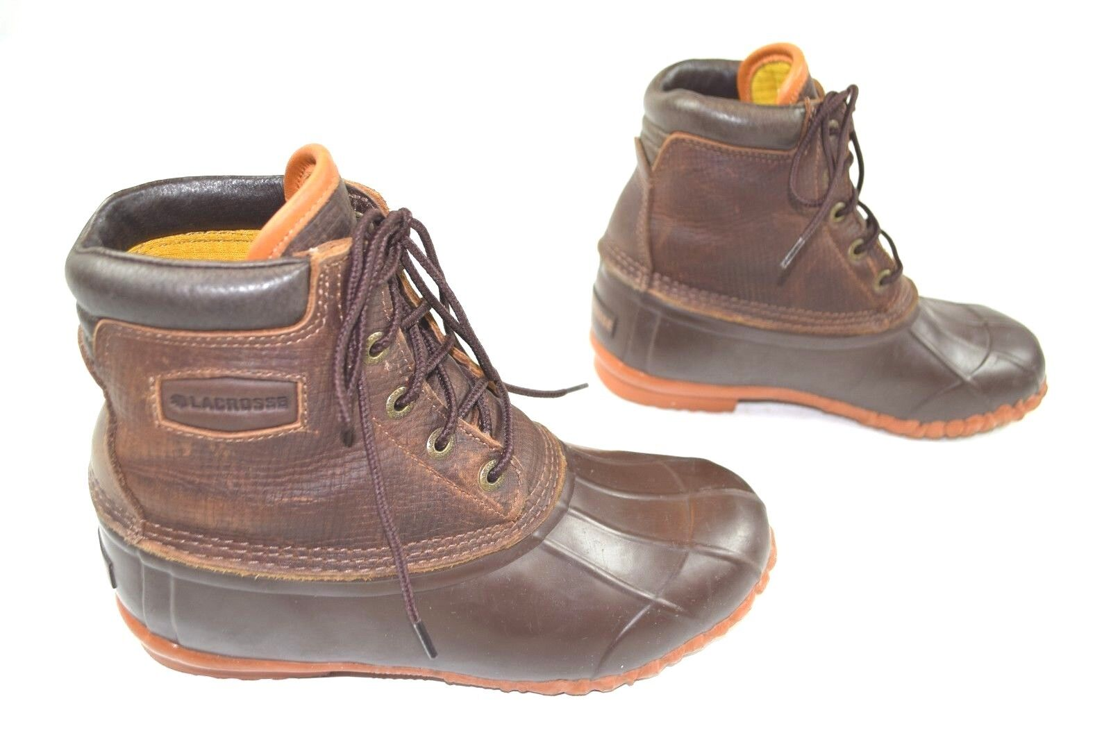 Bottes LaCrosse Duck bottes 5 Eye Cuir CIP 424502 Sz 8 Imperméable Cuir Nice