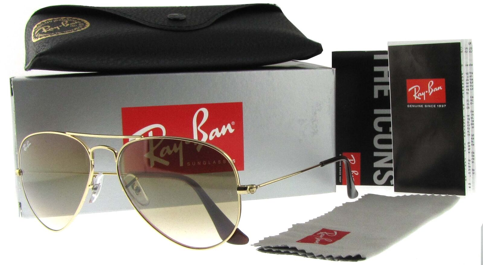 Ray-Ban 55mm Aviator Gradient Sunglasses - Gold   Brown ... 17044ab81d