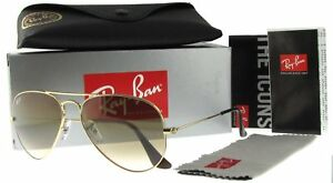 e7f51ab6fd7fc Ray-Ban 55mm Aviator Gradient Sunglasses - Gold   Brown (RB30250015155)